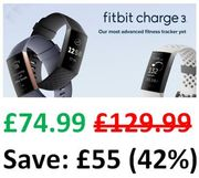SAVE £55 - Fitbit Charge 3