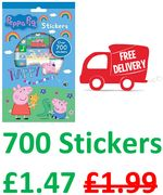 700 Peppa Pig Stickers - FREE DELIVERY