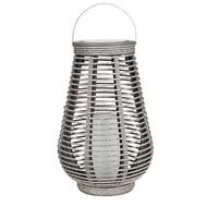 Solar Grey Rattan Lantern
