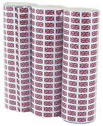 3 X Union Jack Paper Streamers Only £0.53p (Prime Delivery)