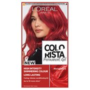L'Oreal Colorista Bright Red Permanent Hair Dye Gel Long-Lasting Colour