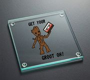 Get Your Groot on Guardians of the Galaxy Inspired Glass Coaster