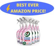 Cif Power and Shine Multi-Purpose Antibacterial Spray, 4.2 L, 700 Ml, Pack of 6