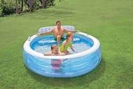 *SAVE over £25* Intex Swim Centre Family Lounge Pool, 229 X 218 X 76 Cm