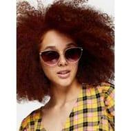 Topshop Phoenix Cat Eye Sunglasses - Gold