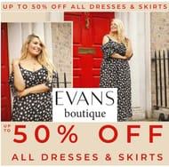 EVANS OFFER - up to 50% off - Dresses & Skirts