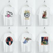 Cartoon Animals Print T Shirt