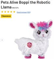 ARGOS CLEARANCE - Boppi - the Robotic Llama