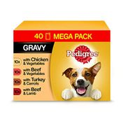 Pedigree Vital Protection Wet Dog Food Mix of Flavours, 40 X 100g