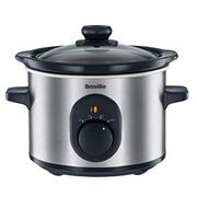 Breville VTP169 Compact Slow Cooker, 1.5 L - Silver