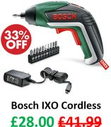 Bosch IXO Cordless Screwdriver with Lithium-Ion Battery