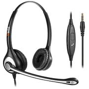 Wantek Wired Cell Phone Headset Dual with Noise Cancelling Mic, 3.5mm Phon
