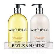 Half Price-Baylis & Harding Sweet Mandarin & Grapefruit Hand Wash and Lotion Set