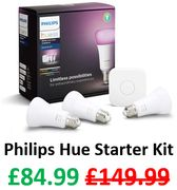 Philips Hue Starter Kit - WORKS WITH ALEXA etc - SAVE £65