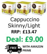 NESCAFE Dolce Gusto Cappuccino Skinny/Light Coffee Pods, Pack of 3