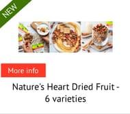 Natures Heart Dried Fruit £1 Cashback on Amazon