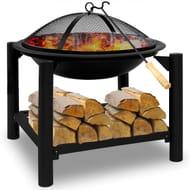 Fire Pit 50x50 round with Wood Shelf