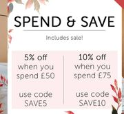 5% off When You Spend £50