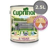 Cuprinol 5244438 Garden Shades Exterior Woodcare, Silver Birch, 2.5L