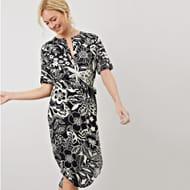 James Lakeland - Black Ramona Print Dress SIZE 12 ONLY