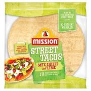 Mission Foods Chilli & Lime Street Tacos 10 per Pack