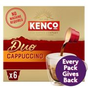 Kenco Duo Cappuccino Instant Coffee 6 X 24g