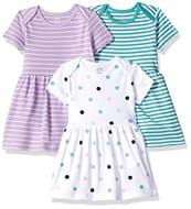 Amazon Essentials Baby Girl's 3-Pack Dress PREMATURE