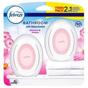 Febreze Bathroom Air Freshener In Blossom & Breeze Also Cotton Fresh *2 Pack