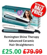 Remington Shine Therapy Advanced Ceramic Hair Straighteners