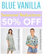 BLUE VANILLA - Mid-Season Reductions - up to 50% OFF