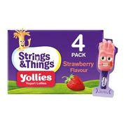Strings & Things Yollies Strawberry Kids Yogurt 100g