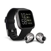 Fitbit Versa 2 Health and Fitness Smartwatch with Jabra 65t Wireless Earbuds