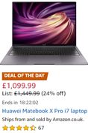SAVE £350 - HUAWEI MateBook X Pro