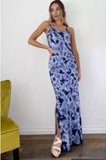Quiz - Blue Tie Dye Maxi Dress