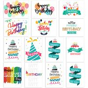 PartyKindom 48 Pack Birthday Cards with 12 Colorful Design