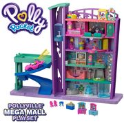 Polly Pocket Mega Mall with 6 Floors, Vehicle, Elevator & Micro Dolls