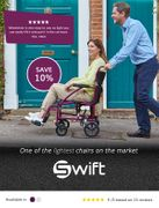 Get 10% off the Ultralight Swift Wheelchair