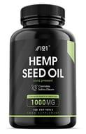 Hemp Seed Oil Softgels 1000mg - Made with Organic Cold-Pressed Hemp Seed Oil