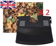 2 X Drain Leaf Guard - Cover - Tidy - Black Plastic - Barrier - Protector