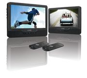 *SAVE over £9* LOGIK Dual Screen Portable DVD Player Includes Car Mounting Kit