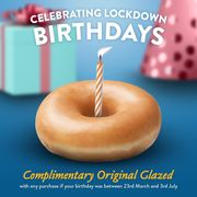 FREE Krispy Kreme if Your Birthday Was in Lockdown