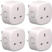 Smart Plug WiFi Outlet Compatible with Alexa, Google 4 Pack £19.88 with Voucher
