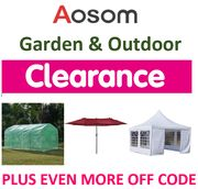 Special Offer - AOSOM - Garden & Outdoor CLEARANCE + EXTRA 8% OFF CODE!