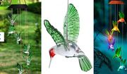 Hummingbird Colour Change Garden Solar Wind Chime - £12.99