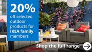 20% off Selected Outdoor Products for IKEA Family Members