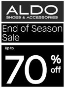 ALDO SHOES - End of Season SALE - up to 70% OFF - ONLINE ONLY!