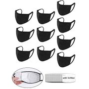 60% off 10 PCS Reusable Breathable Seamless Masks Bandanas with 16 Filters