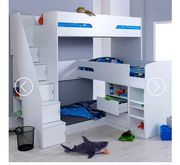 Oscar Triple Bunk Bed by Flair Furnishings - Mattresses Not Included