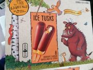 The Gruffalo 8 Ice Tusks Chocolate Flavour Coated Milk Ice Sticks  8x42ml