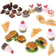 27 Pcs Miniature Food Mini Hamburgers Food Models Dollhouse